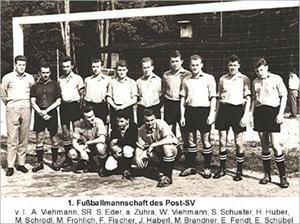 Seniorensport 1. Fußballmannschaft des Post-SV