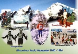 Seniorensport Allroundman Ewald Haberzettel 1940-1994